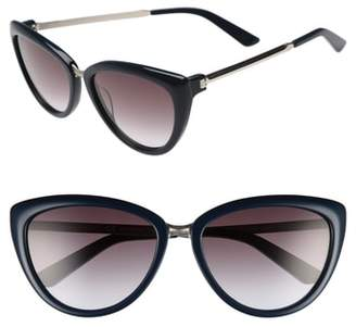 Calvin Klein 56mm Cat Eye Sunglasses