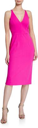 Donna Morgan Sleeveless Deep V-Neck Sheath Dress