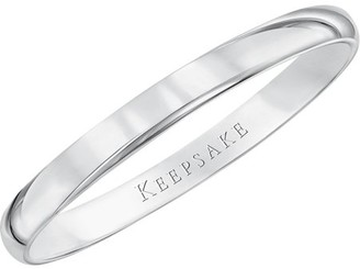 Keepsake 10kt White Gold Wedding Band, 2mm