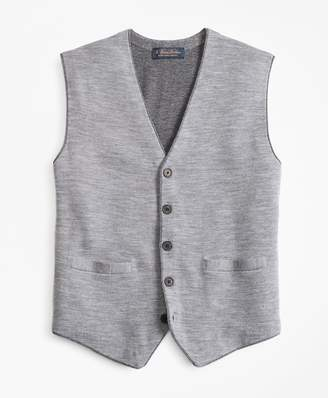 Brooks Brothers Merino Wool Sweater Waistcoat
