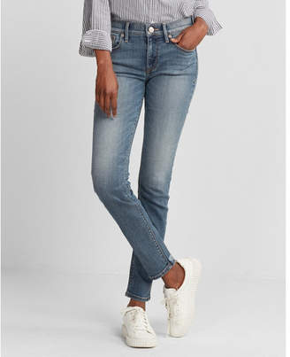 Express mid rise stretch super skinny jeans