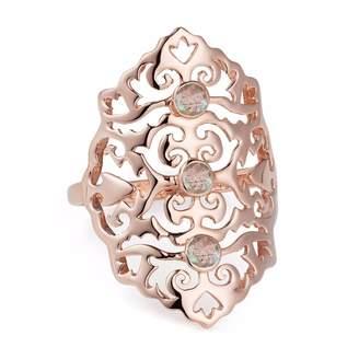 Neola - Jade Rose Gold Cocktail Ring With Labradorite