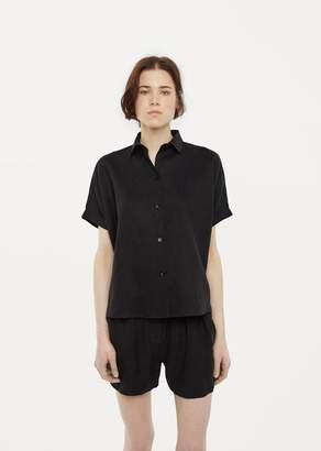 La Garçonne Moderne Linen Artist Shirt Black