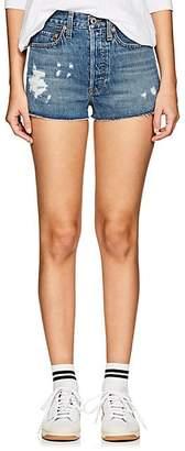 RE/DONE Women's High Rise Denim Cutoff Shorts - Blue