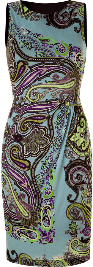 Etro Azure Draped Dress