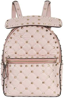 Valentino Mini Crinkled Leather Spike Backpack