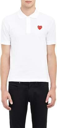 Comme des Garcons Men's Piqué Polo Shirt - White