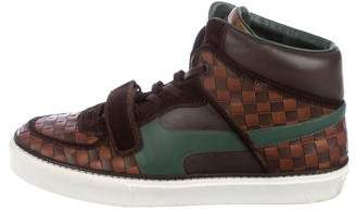 Louis Vuitton Damier Leather High-Top Sneakers