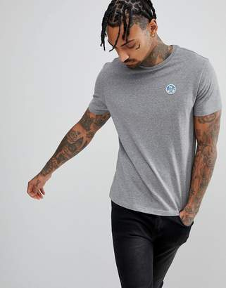 North Sails Patch Logo T-Shirt in Gray