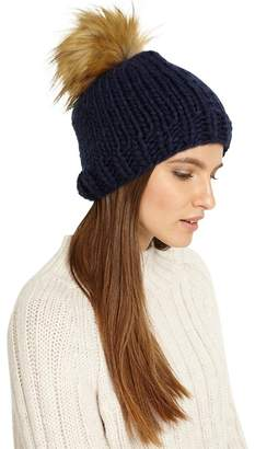Phase Eight Ella Cable Knit Pom Pom Hat