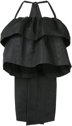 MSGM giant bow ruffled blouse