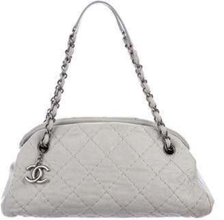 Chanel Just Mademoiselle Small Bowling Bag grey Just Mademoiselle Small Bowling Bag