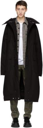 R 13 Black Long Anorak Puffer Jacket