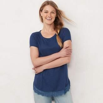 Lauren Conrad Women's Bow Back Shirttail Tunic