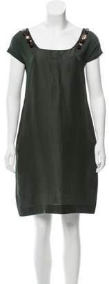 Max Mara 'S Linen-Silk Mini Dress