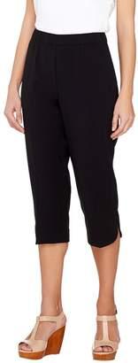 Susan Graver Chelsea Stretch Comfort Waist Pull-On Capri Pants