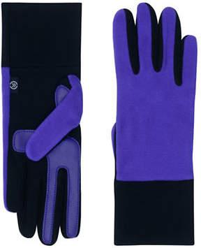 Isotoner Two-Tone Fleece Gloves