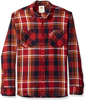 Levi's Men's Cubitt Long Sleeve Cotton Flannel Shirt