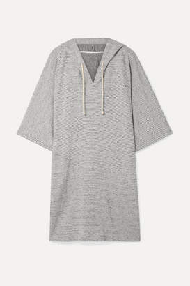 Skin - Tori Hooded Striped Pima Cotton And Modal-blend Tunic - Gray