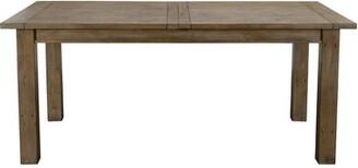 Highland Dunes Egremt Driftwood Extendable Solid Wood Dining Table Highland Dunes