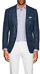 Sartorio Men's PG Checked Two-Button Sportcoat - Blue