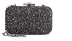 Natasha Metallic Lace Convertible Chain Clutch