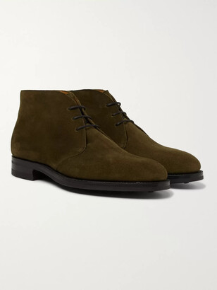 Edward Green Banbury Suede Desert Boots - Men - Green