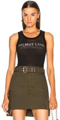 Helmut Lang Mesh Logo Tank Top