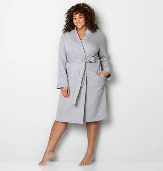 Avenue Heather Grey French Terry Robe