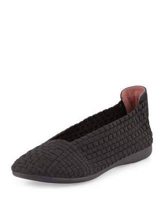 Taryn Rose Belicia Stretch-Woven Flat, Black $60 thestylecure.com