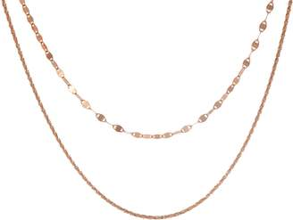 """Sterling 13"""" Adjustable Double Strand Choker Necklace"""