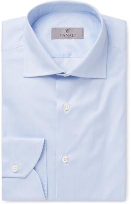 Canali Blue Striped Cotton Shirt $250 thestylecure.com