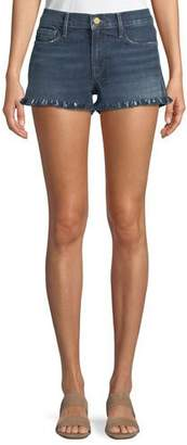 Frame Le Cutoff Shredded Raw-Hem Denim Shorts