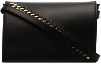 Stella McCartney black logo strap shoulder bag