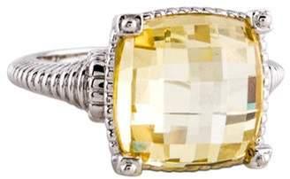 Judith Ripka Canary Crystal Fontaine Cocktail Ring silver Canary Crystal Fontaine Cocktail Ring