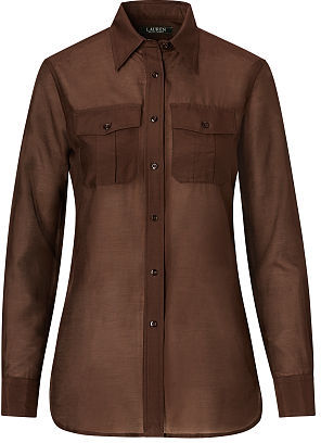 Ralph Lauren Cotton-Silk Voile Shirt $79.50 thestylecure.com