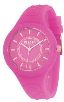 Versace 39MM Fire Island Silicone Strap Watch
