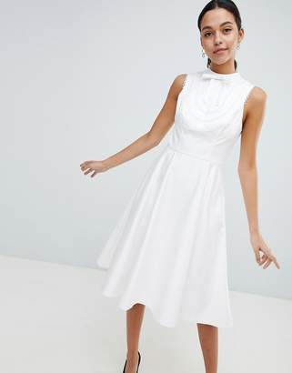 Ted baker white lace dresses shopstyle uk at asos ted baker lace trim bib midi dress mightylinksfo