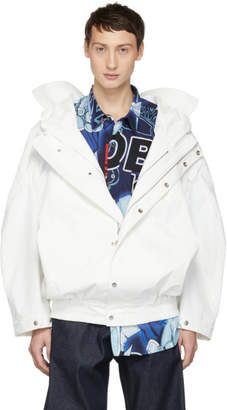 Chen Peng White Windproof Double Layer Jacket