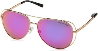 Michael Kors Women's Lai 0MK1024 58mm Gold Tone/Fuchsia Mirror Sunglasses