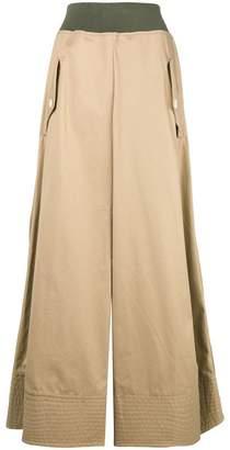 Sacai full high waisted skirt