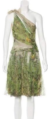 Alberta Ferretti Silk Crepe Dress