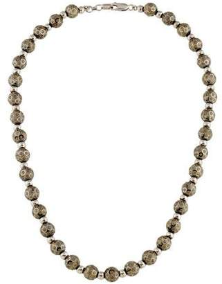 18K Textured Bead Necklace