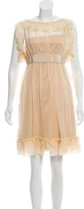 Dolce & Gabbana Sheer Knee-Length Dress