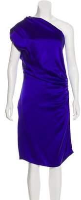 Thakoon One-Shoulder Silk Midi Dress