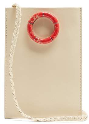 The Row Medicine Leather Cross Body Bag - Womens - Cream