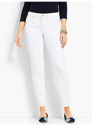 Talbots Patched Denim Slim Ankle - Curvy Fit/White