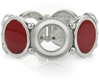 Principles by Ben de Lisi - Designer Red Inlay Circle Bracelet