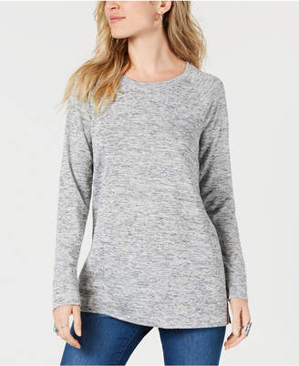 Style&Co. Style & Co Melange Raglan-Sleeve Knit Top, Created for Macy's