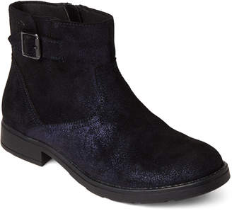 Geox Kids Girls) Dark Navy Sofia Shimmer Suede Ankle Boots